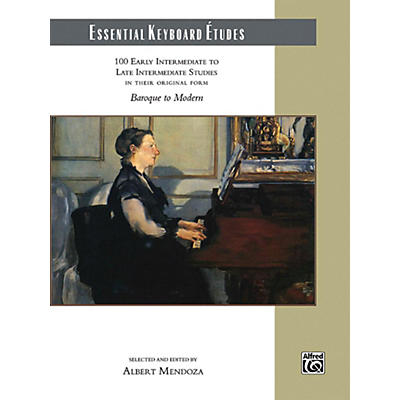 Alfred Essential Keyboard Etudes Comb Bound Book Early Intermediate to Late Intermediate