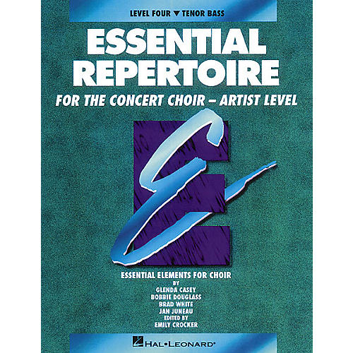 Hal Leonard Essential Repertoire for the Concert Choir - Artist Level Tenor Bass Perf/Acc CDs (2) by Glenda Casey