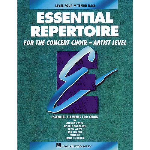 Hal Leonard Essential Repertoire for the Concert Choir - Artist Level Tenor Bass/Student 10-Pak by Glenda Casey