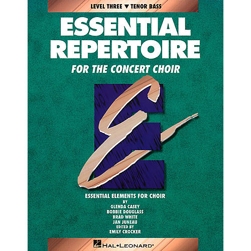 Hal Leonard Essential Repertoire for the Concert Choir Tenor Bass Part-Learning CDs 3 Composed by Glenda Casey