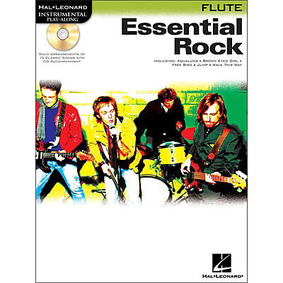 Hal Leonard Essential Rock for Flute Book/CD Instrumental Play-Along