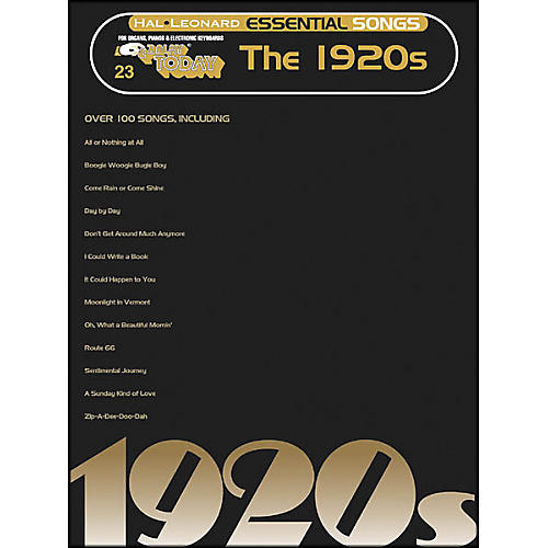 Hal Leonard Essential Songs - The 1920's E-Z Play 23