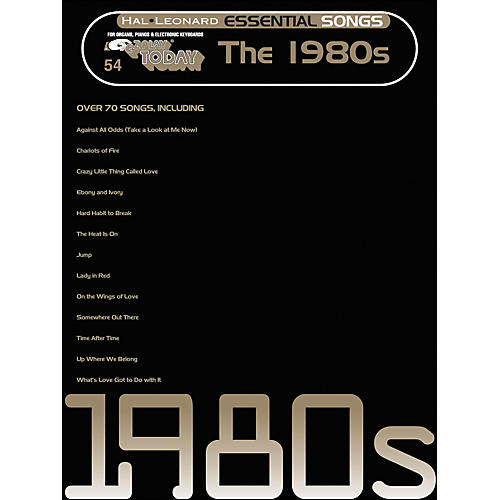 Hal Leonard Essential Songs - The 1980's E-Z Play 54