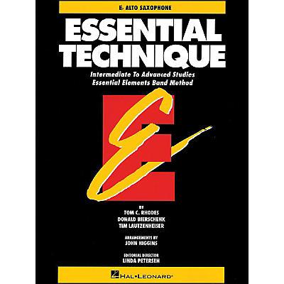 Hal Leonard Essential Technique E Flat Alto Saxophone Intermediate To Advanced Studies