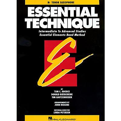Hal Leonard Essential Technique For B Flat Tenor Saxophone - Intermediate To Advanced Studies