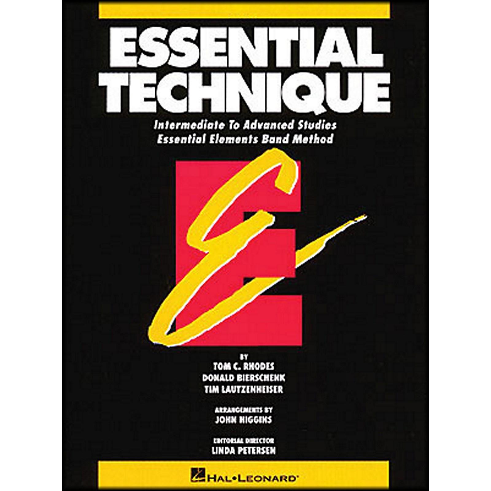 Hal Leonard Essential Technique For Baritone B.C. - Intermediate To Advanced Studies
