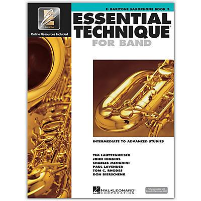 Hal Leonard Essential Technique for Band - Baritone Saxophone 3 Book/Online Audio