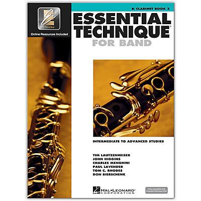 Hal Leonard Essential Technique for Band - Bb Clarinet 3 Book/Online Audio