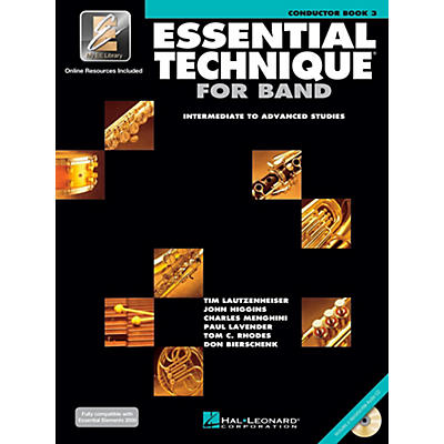 Hal Leonard Essential Technique for Band - Conductor Score (Book 3 with EEi and CD)