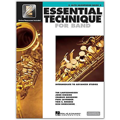 Hal Leonard Essential Technique for Band - Eb Alto Saxophone 3 Book/Online Audio