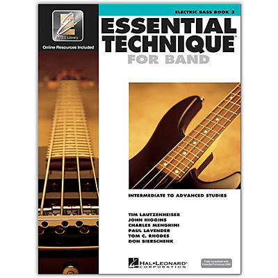 Hal Leonard Essential Technique for Band - Electric Bass 3 Book/Online Audio