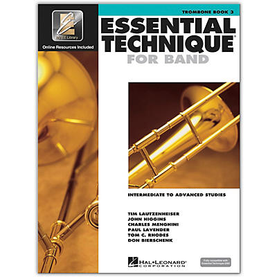 Hal Leonard Essential Technique for Band - Trombone 3 Book/Online Audio