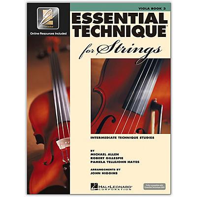 Hal Leonard Essential Technique for Strings - Viola 3 Book/Online Audio