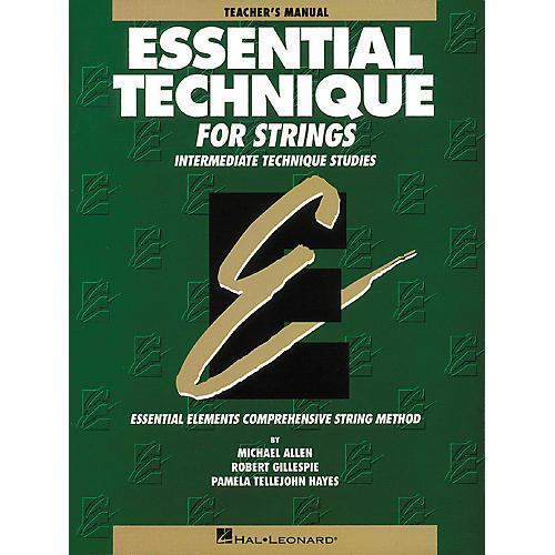 Hal Leonard Essential Technique for Strings Teacher's Manual