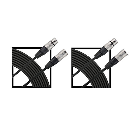 Livewire Essential XLR Microphone Cable Regular 25 ft. Black 2-Pack