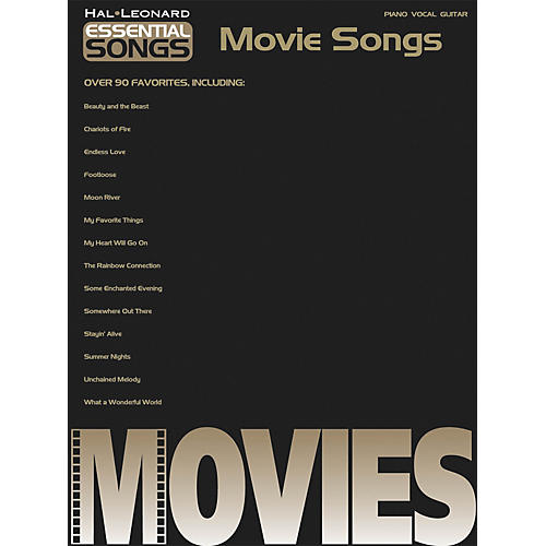 Hal Leonard Essential songs - Movie Songs Piano, Vocal, Guitar Songbook