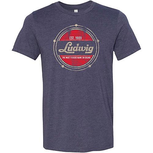 Ludwig Established Heathered Navy T-Shirt XX Large
