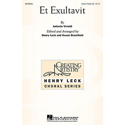 Hal Leonard Et Exultavit Unison Treble