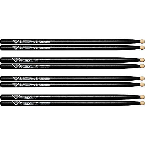 Vater Eternal Black Punisher Drumsticks, Wood - Buy 3 Get 1 Free