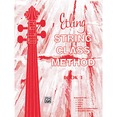 Alfred Etling String Class Method Book 1 Cello