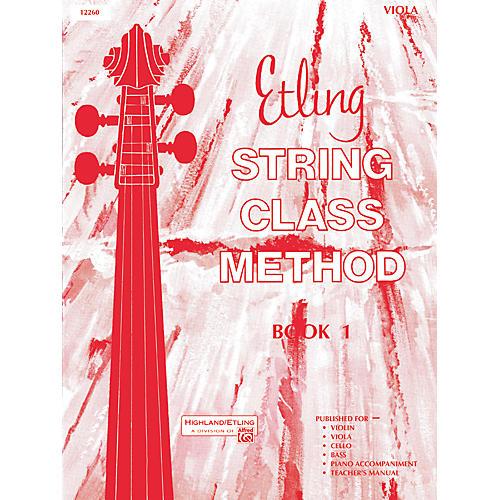 Alfred Etling String Class Method Book 1 Viola