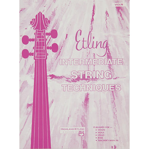 Alfred Etling String Class Method Book 2 Violin