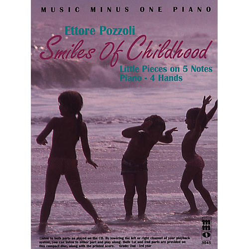 Music Minus One Ettore Pozzoli - Smiles of Childhood Music Minus One Series Softcover with CD