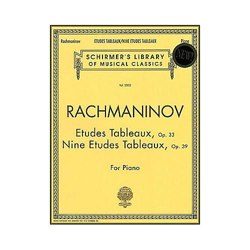 G. Schirmer Etudes Tableaux Op 33 & Op 39 Nine Etudes Tableaux Piano Centennial Edition By Rachmaninoff