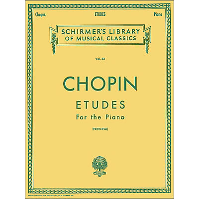 G. Schirmer Etudes for Piano By Chopin