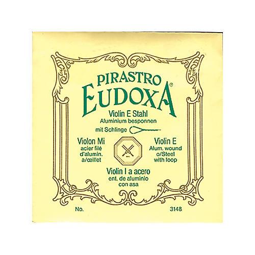 Pirastro Eudoxa Series Violin E String 4/4 Medium Loop End Steel