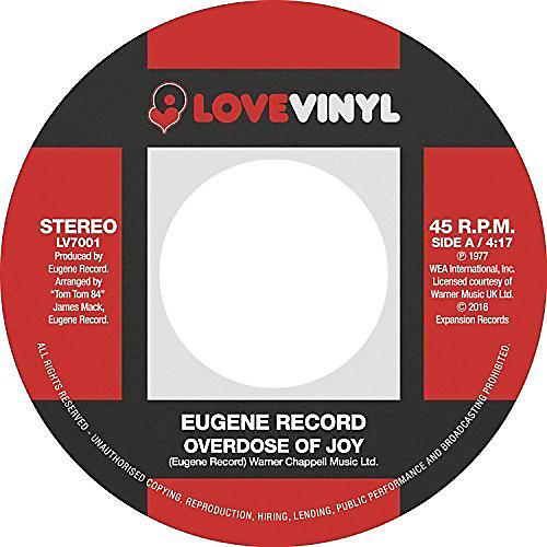 Alliance Eugene Record - Overdose Of Joy / I Want To Be With You