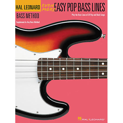 Hal Leonard Even More Easy Pop Bass Lines Book