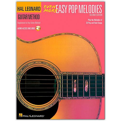 Hal Leonard Even More Easy Pop Melodies Guitar Method (Book/Online Audio)