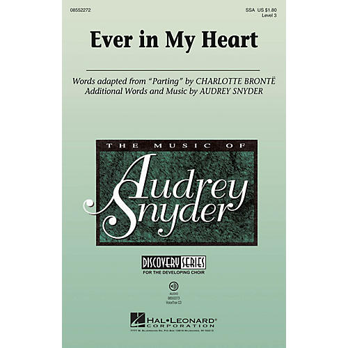 Hal Leonard Ever in My Heart VoiceTrax CD Composed by Audrey Snyder