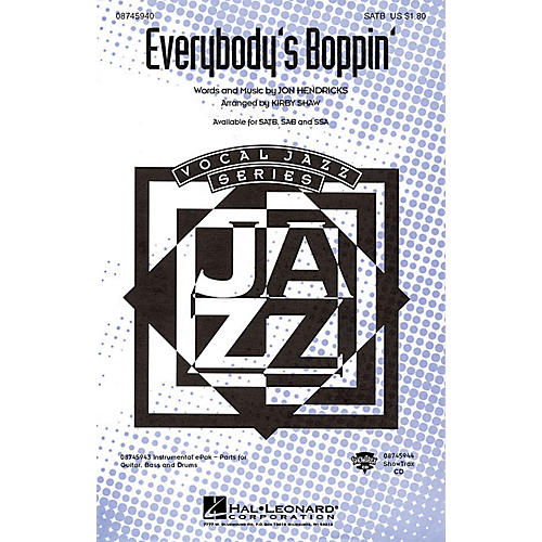 Hal Leonard Everybody's Boppin' SATB arranged by Kirby Shaw