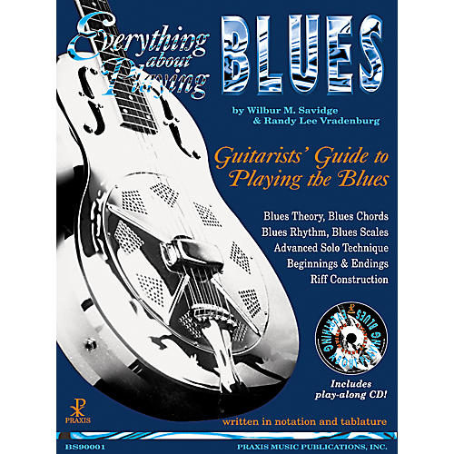 Music Sales Everything About Playing Blues (Book/CD)