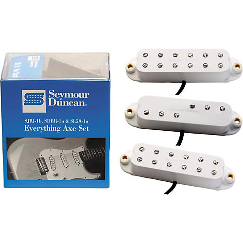 seymour duncan everything axe single coil electric guitar pickup set white musician 39 s friend. Black Bedroom Furniture Sets. Home Design Ideas