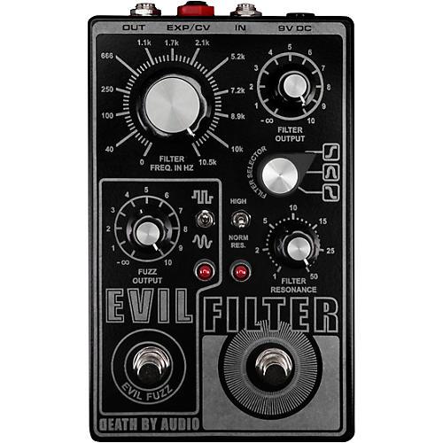 Death By Audio Evil Filter Hyper Resonant Multi Mode Filter/Fuzz Pedal Black