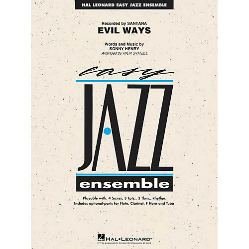 Hal Leonard Evil Ways Jazz Band Level 2 by Santana Arranged by Rick Stitzel
