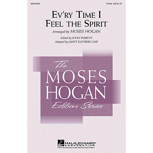 Hal Leonard Ev'ry Time I Feel the Spirit 2-Part arranged by Janet Klevberg Day
