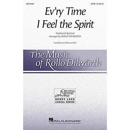 Hal Leonard Ev'ry Time I Feel the Spirit SATB arranged by Rollo Dilworth