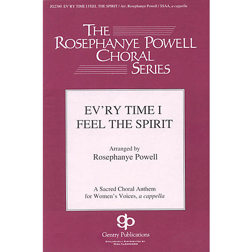 Gentry Publications Ev'ry Time I Feel the Spirit SSAA A Cappella arranged by Rosephanye Powell