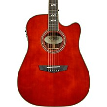 Excel Bowery Dreadnought Acoustic-Electric Guitar Auburn