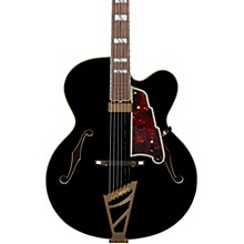 Excel EXL-1 Hollowbody Electric Guitar with Stairstep Tailpiece Black