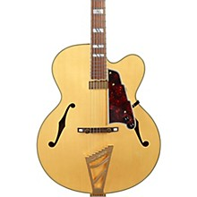 Excel EXL-1 Hollowbody Electric Guitar with Stairstep Tailpiece Natural