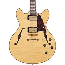 Excel Series DC Semi-Hollow Electric Guitar with Stairstep Tailpiece Natural