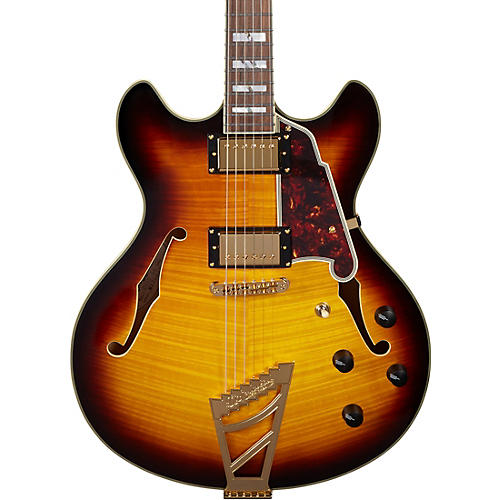 D'Angelico Excel Series DC Semi-Hollow Electric Guitar with Stairstep Tailpiece