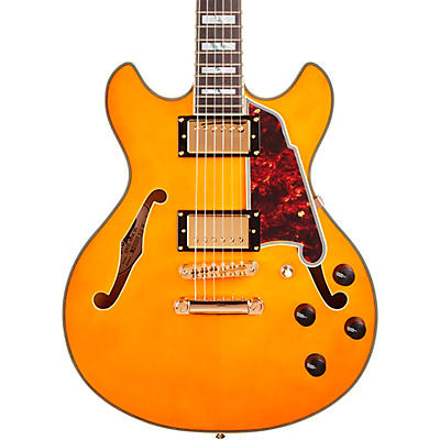 D'Angelico Excel Series Mini DC Semi-Hollow Electric Guitar Spruce top USA Seymour Duncan Humbuckers Stop-bar Tailpiece