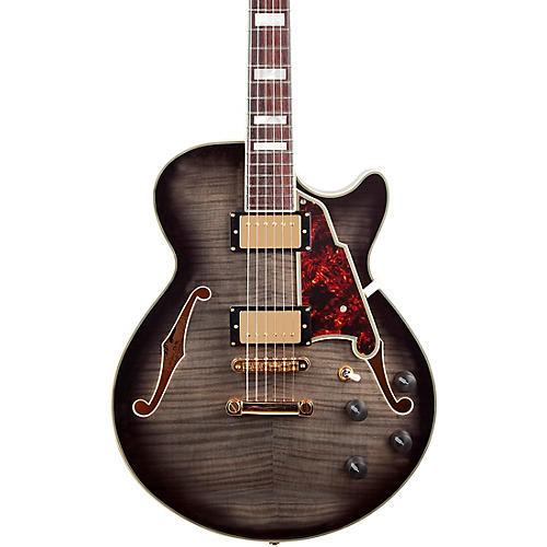 D'Angelico Excel Series SS Semi-Hollow Electric Guitar with Stopbar Tailpiece Condition 1 - Mint Gray Black