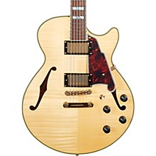 Excel Series SS Semi-Hollow Electric Guitar with Stopbar Tailpiece Natural